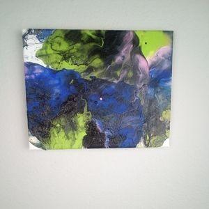 Acrylic Pour 8 x 10 Canvas
